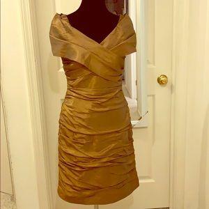 Gold metal dress